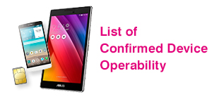 List of Confirmed Device Operability
