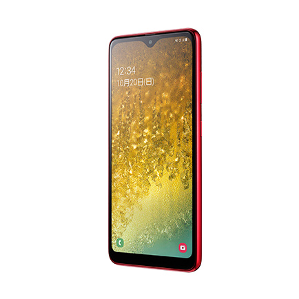 Samsung Galaxy A20(レッド 正面)