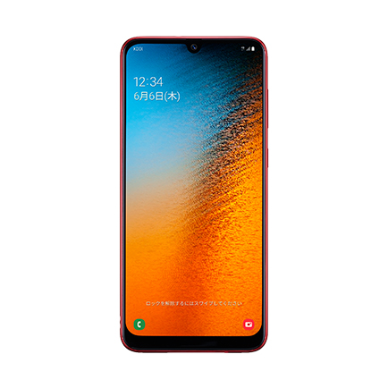 Galaxy A30(レッド 正面)