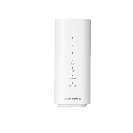 WiMAX HOME 02(ホワイト 正面)